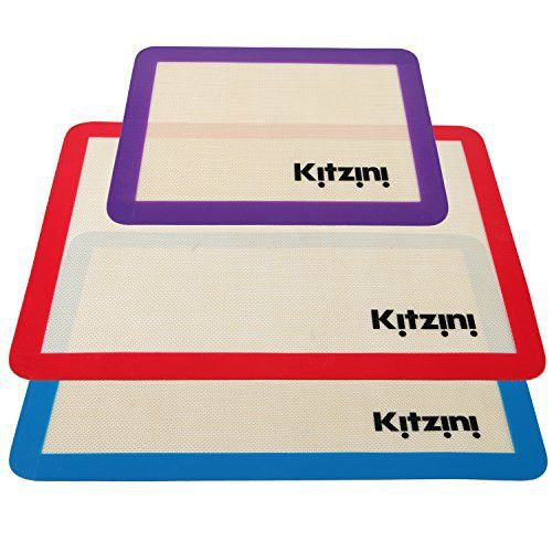 Silicone Baking Sheet Mat Set (3) 2 Half Sheets + 1 Qtr Sheet