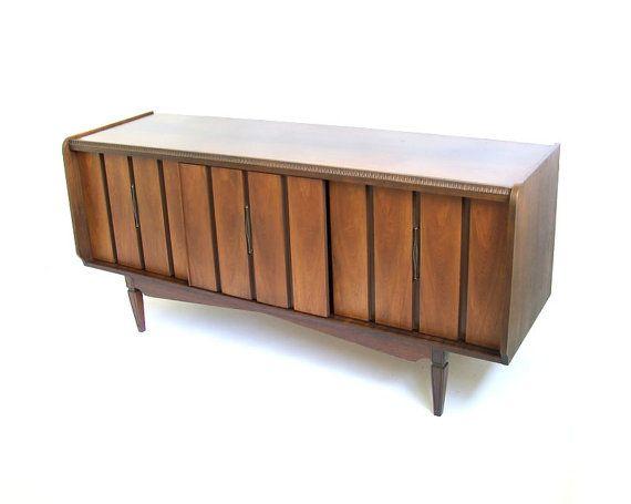 Vintage Credenza Mid Century Modern Furniture door stonesoupology, $768.00