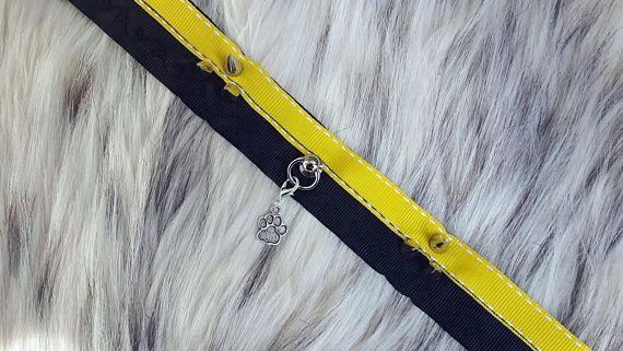 Kitten play Collar / Bdsm Chocker / pet play / Black and