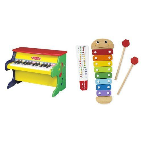 Melissa & Doug Piano & Catepillar Xylophone Bundle...