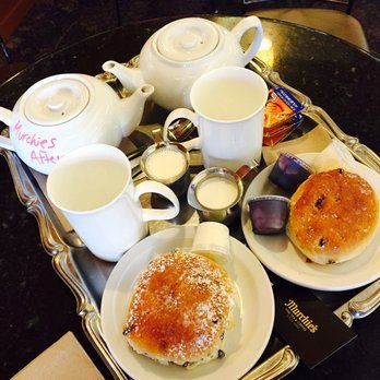Murchie's Tea & Coffee - Victoria, BC, Canada. Tea and scones