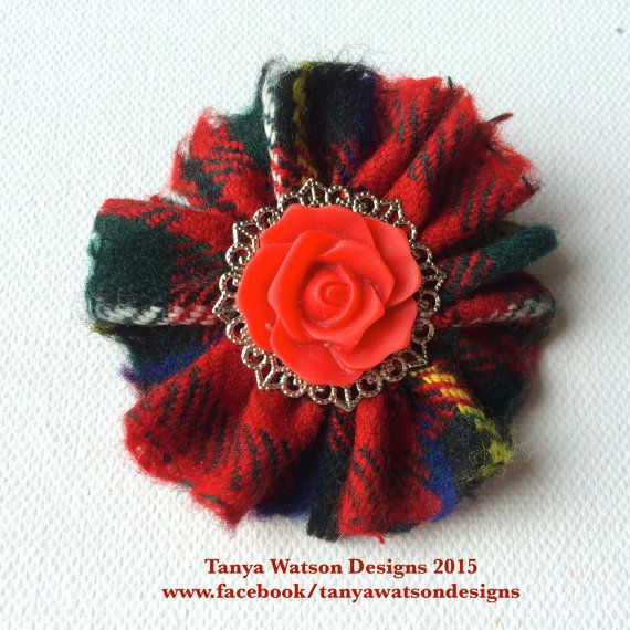 Handmade one of a kind red real scottish  by TanyaWatsonDesigns