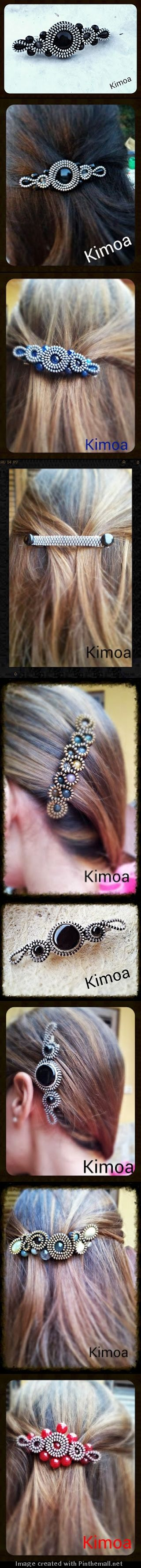 Awesome zipper hair clips! #DIY #inspiration #jewelry