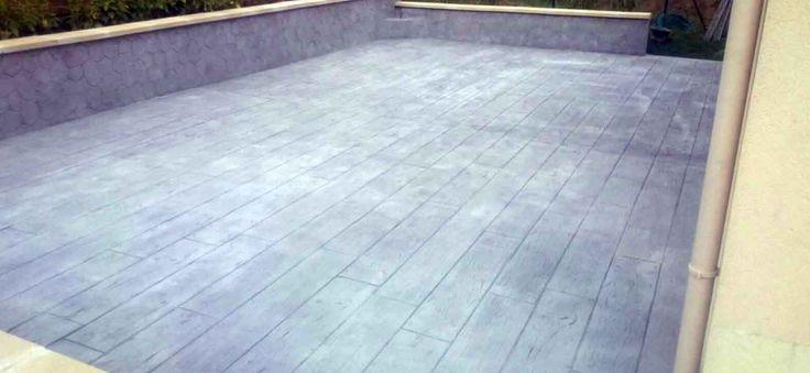 17 meilleures id es propos de beton imprim sur for Peinture terrasse beton avis