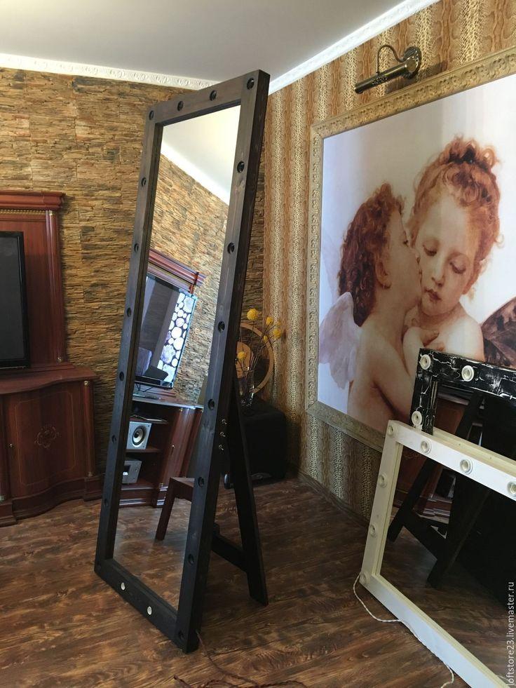 Купить Напольное гримерное зеркало EVEREST - коричневый, зеркало, напольное зеркало, Необычное зеркало
