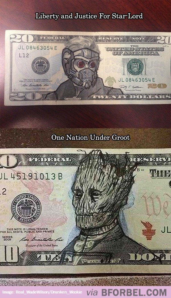 Guardians Of The Galaxy Dollar Bills…