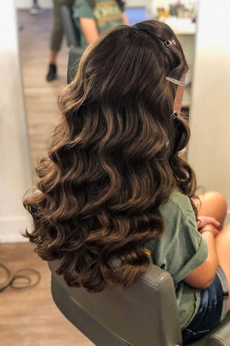 Classic Timeless Hollywood Waves Hairstyle For Long Hair Hairstyle By Goldplaited Prom Hairstyle Prom Hai Thick Hair Styles Hair Waves Long Hair Styles