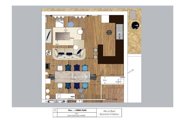 Amenagement salon salle a manger 20m2 3 plan de cuisine salle a manger salon smc pictures to - Idee amenagement salon salle a manger ...