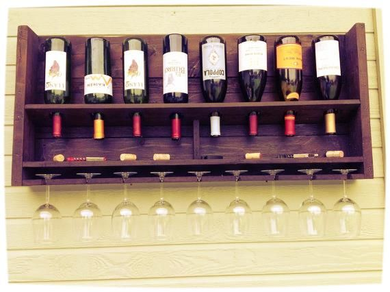 reclaimed wood wine rack. I want this for my new house!