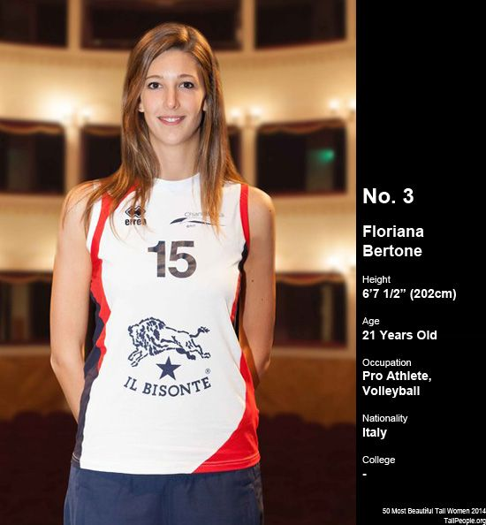 Floriana Bertone (6'7 1/2″) | Tall Women - Female Height ...