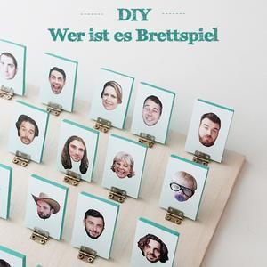 """DIY Brettspiel: """"Wer ist es"""" mal ganz anders!       Bastel deine eigene Version -  auf Spaaz.de."""