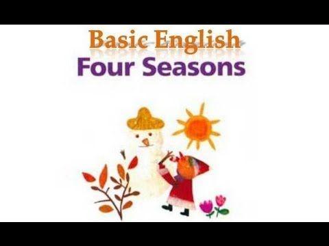 Engels prentenboek, op kleuteridee,  Four Seasons