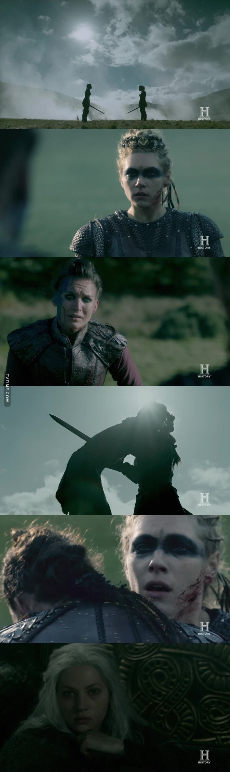 VIKINGS S05E10 This was so beautiful and heartbreaking! Lagertha is the strongest woman ever, but that was too much even for her, she's been broken too many times. She never wanted to kill Astrid, but she never had a choice, Astrid had already decided she wanted to die by the hand of the woman she loved.