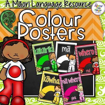 Colour Posters for the New Zealand Classroom - these colour posters come in two formats Te Reo Maori and Te Reo Maori which English translation. There are a few options for some of the colour words included. Just choose which ones suit your classroom th