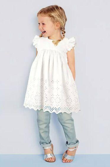 toddler cotton dresses   dress button on back short sleeve summer cotton vintage toddler kids ...