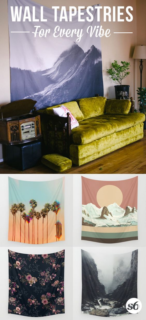 Society6 Tapestries - Available in three distinct sizes, our Wall Tapestries are made of 100% lightweight polyester with hand-sewn finished edges. Featuring vivid colors and crisp lines, these unique and versatile tapestries are durable enough for both indoor and outdoor use.