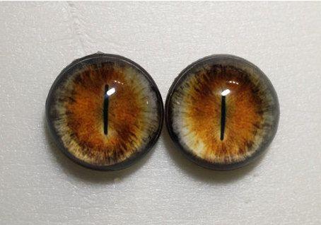 02016 taxidermie des yeux de verre - Cabochons pour Steampunk, bijoux, pendentif, jouets, poupées. Hémisphériques, BJD, fourrure