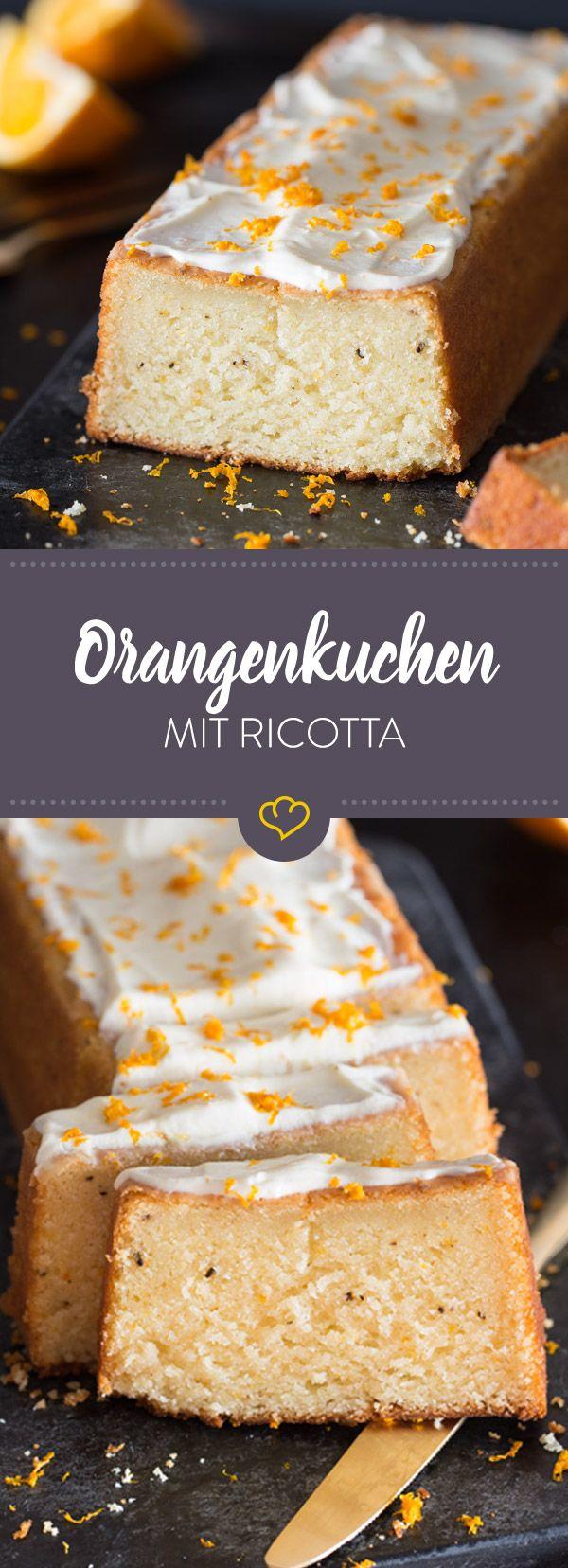 Kuchenhunger? Der fluffig gebackene Teig aus Orange und Ricotta hilft dir garantiert darüber hinweg. Erst recht, wenn süßer Orangensirup mit im Spiel ist.