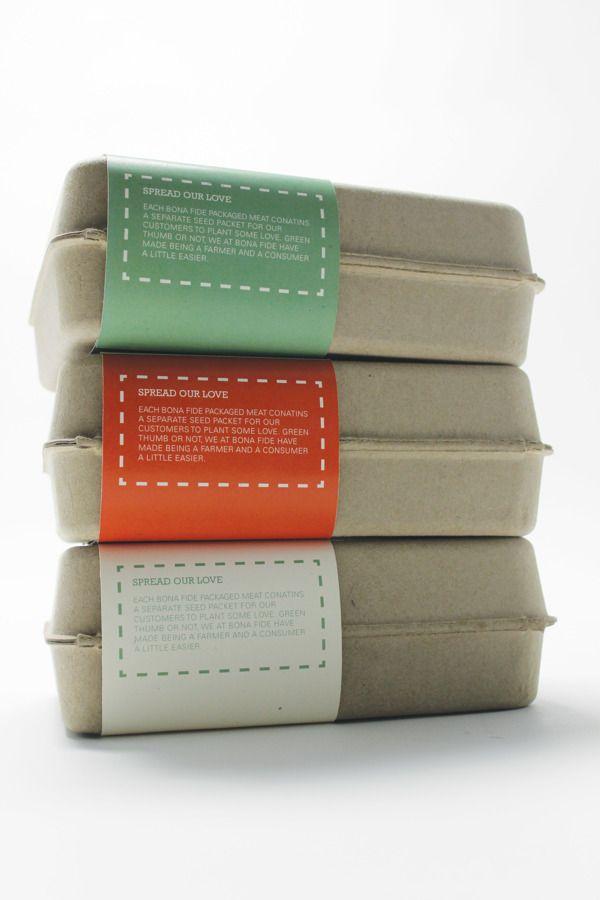 Bona Fide by Emily Morris, via Behance Meat, Packaging, Branding, Sustainable, Organic, Local