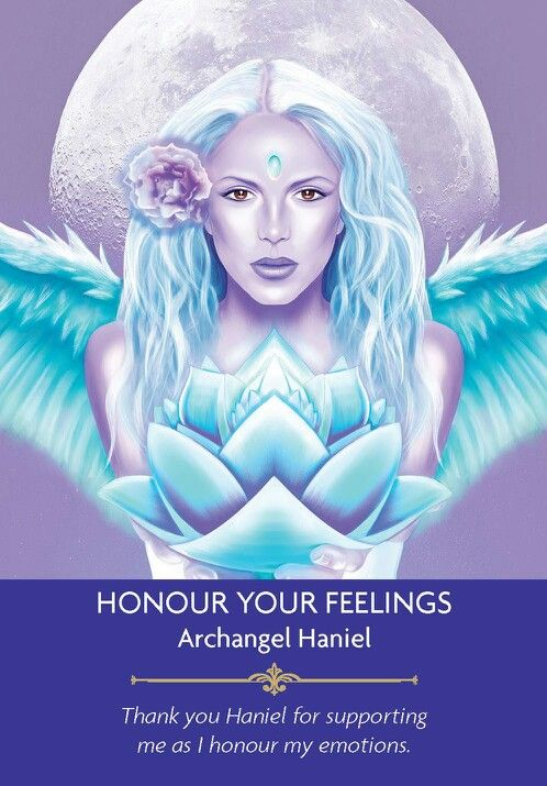 Archangel Haniel - from Kyle Gray's Angel Prayers Oracle Cards