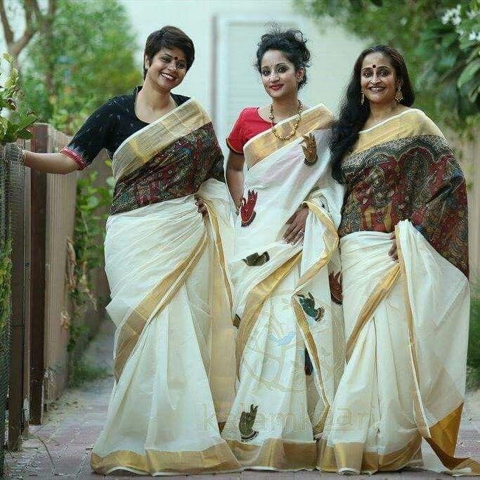 Modern kerala sarees