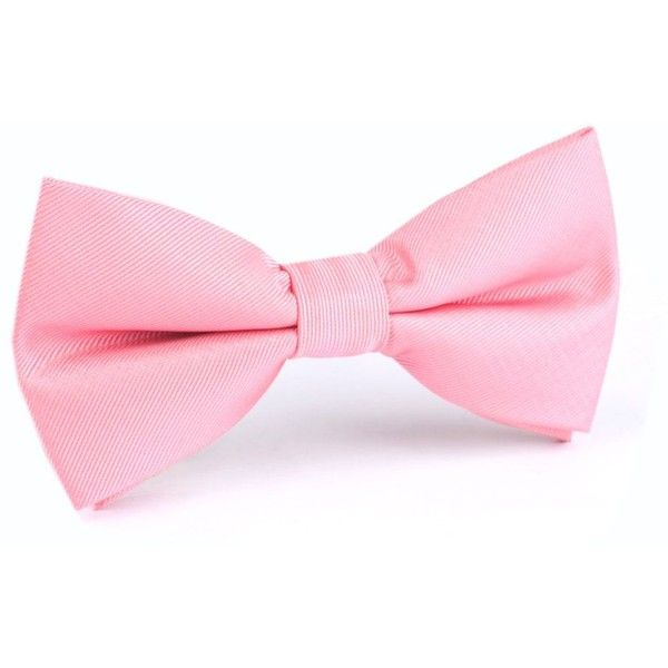 Pastel Pink Bow Tie (1.400 RUB) ❤ liked on Polyvore featuring accessories