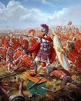 Romans vs. Gauls, Battle of Alesia, 52 BC In September, 52 BC, Julius Caesar sealed his fate as a legendary military commander at the The Battle of Alesia — with an army of 50,000 Romans, Caesar defeated 200,000 Gauls in what is now modern-day Burgundy, France.
