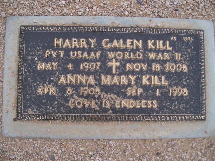 Galen and Mary Kill: Nice couple, meet them on a road trip my family took when I was a teenager. They were relations on my dad side.