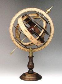 渾天儀(S)天球儀(古代天文機器)/知的インテリア/書斎/デスク周り/地球儀