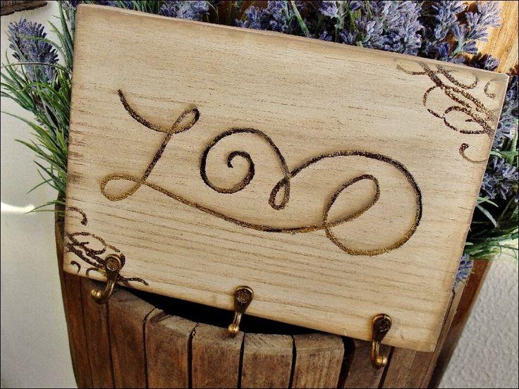 Claviculário/Porta-chaves Love | Olha o que eu fiz... | Elo7