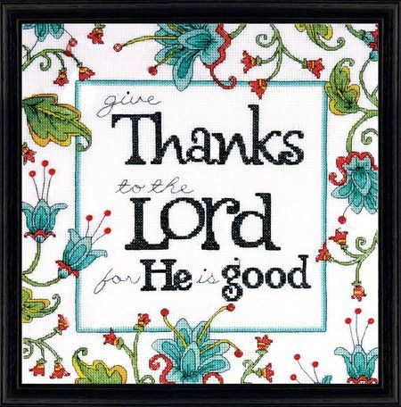 Give Thanks - Counted Cross Stitch Kit
