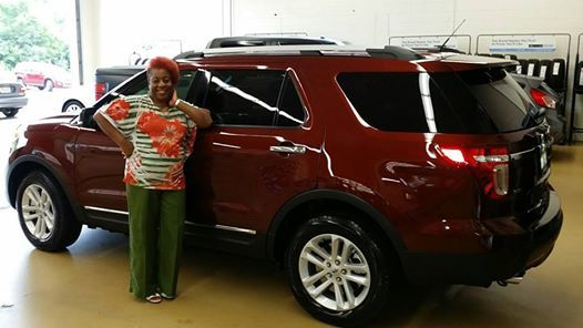 This young lady loved her 2012 Ford Explorer so much that she came back for another. Ms. Johnson was able to take advantage of the Red Carpet Lease incentive offered through Ford where she was able to get out of her lease a few months early, lower her payment, and get more options on a new 2015 Ford Explorer..... Congratulations Ms. Johnson enjoy your new ride! Customer of Brandi Winfrey- Sales Consultant. — at Heiser Ford Lincoln.
