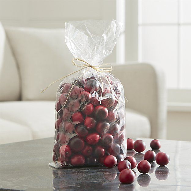 These would look great in a warmer! Cranberry Bowl Filler | Crate and Barrel