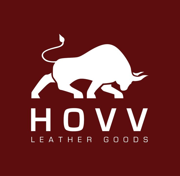 HOVV Leather Goods Bull Logo Design
