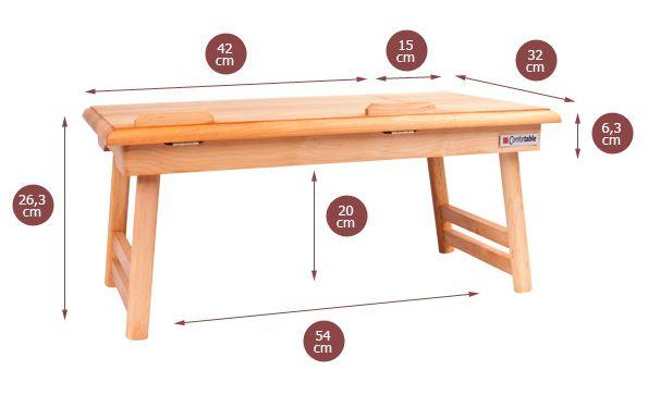 Praktický stolek pod notebook velikosti 17' a méně. Nastavitelná výška desky, samostatná plocha pro myš a skládací nožky pro lepší variabilitu a skladnost. Vybírejte z 8 barevných odstínů! Po vyrytí jména se stolek stává skvělým dárkem...