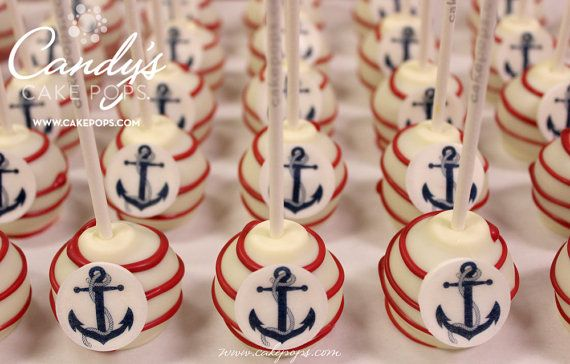 Anchor Cake Pops  Nautical Theme  1 Dozen by CandysCakePops, $36.00