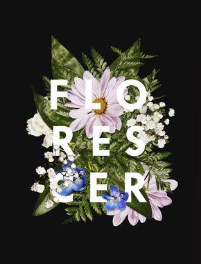 florescer, flores, frases, ilustração, primavera.