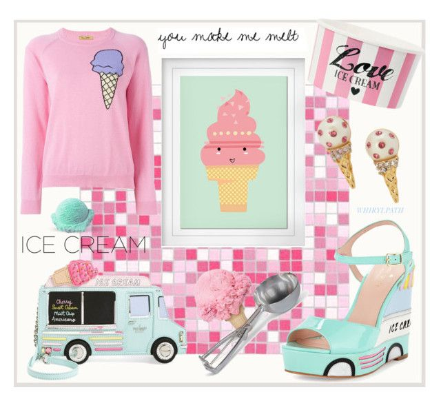 You Make Me Melt! by whirlypath on Polyvore featuring Peter Jensen, Kate Spade, Pillowfort and kitchen