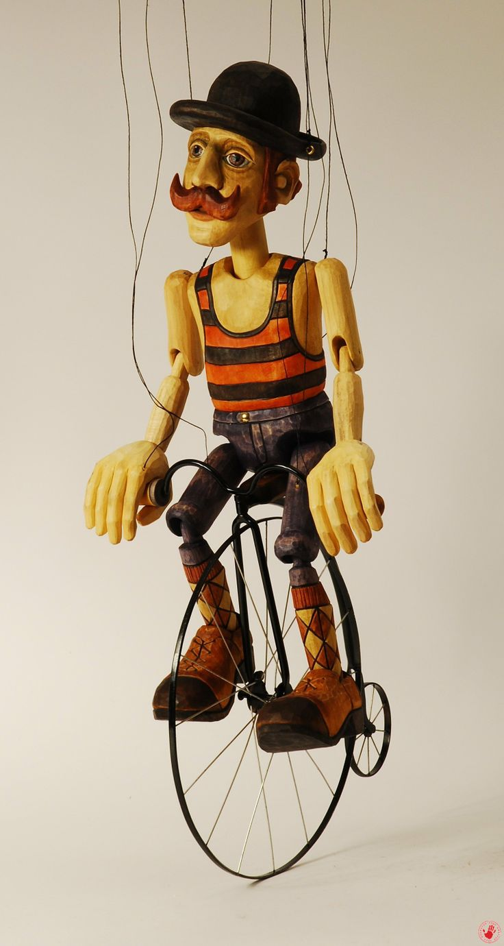 Man on Bicycle Marionette