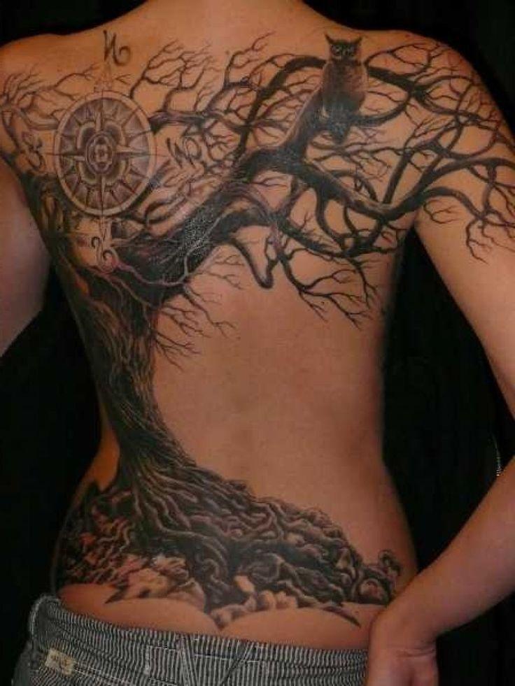 Amazing Dead Tree Tattoo Design