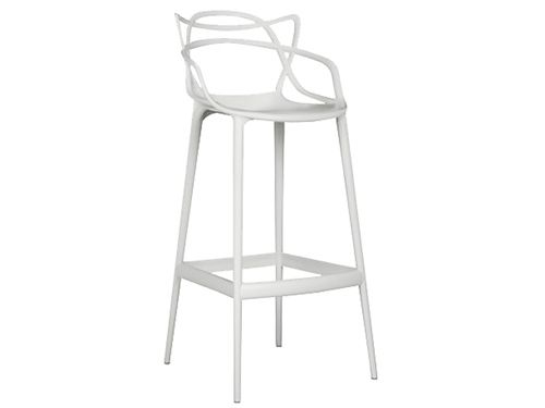 WEB COCKTAIL BAR STOOL WHITEDIMENSIONS: 55X55X83cmSEAT HEIGHT: 79cmWEIGHT: 4.30kg
