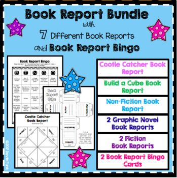 Book Report Bingo is a great way to encourage reading! Students read and report on certain types of books based on genre, characters, author, setting, etc. When they finish a Bingo they get a prize. They can use the same card all year long and receive the ultimate prize when they get a blackout!