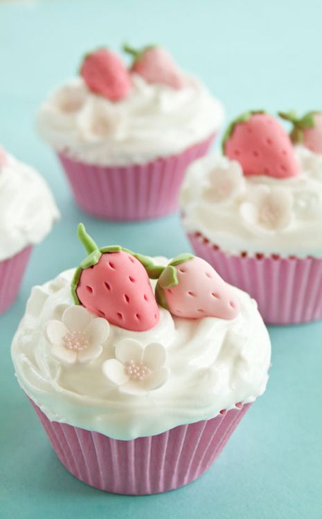 Perfect for strawberry cupcakes.