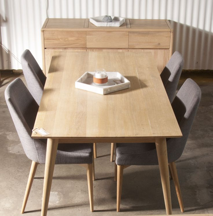 A timeless rectangular dining table with an elegant and warm wooden surfaces that brings nature into the owner's busy life. Made from reclaimed teak, black walnut or oak, the table comes in different organic colors.
