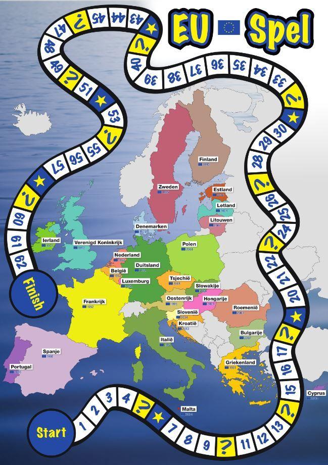 Het digitale of gedrukte EU-spel leert je spelenderwijs meer over de…