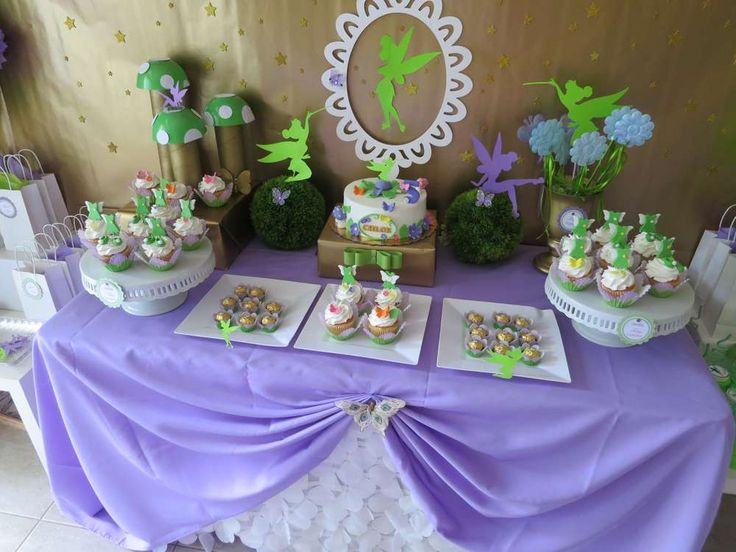 Tinkerbell Fairy Birthday Party Ideas   Photo 1 of 35   Catch My Party