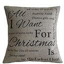 Gepersonaliseerde Christmas Wish List Kussen - kerstversiering