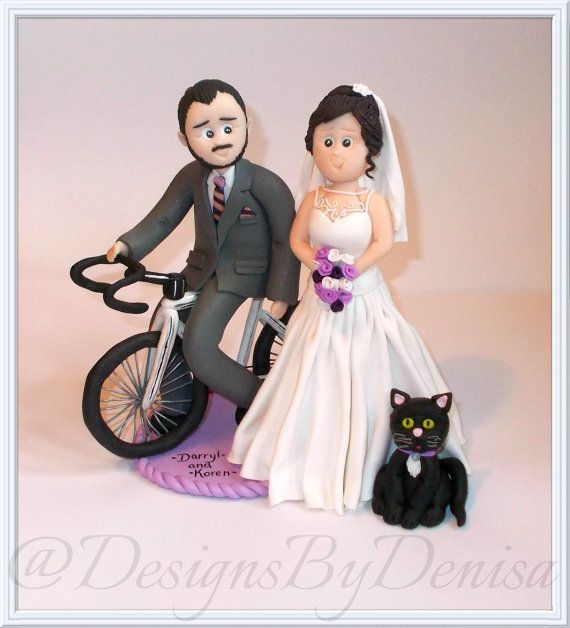 Handmade Personalised Clay Wedding Topper by DesignsByDenisa