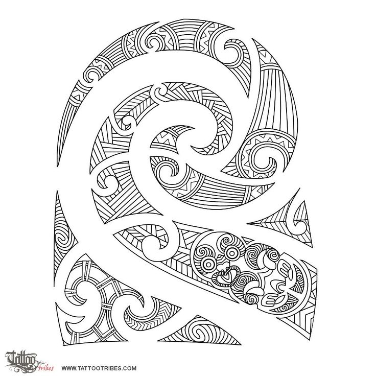 An example of Kirituhi, which is a form of Maori-inspired art. It is taboo to copy true tribal art from the Maori, as the symbology is deeply personal to them.