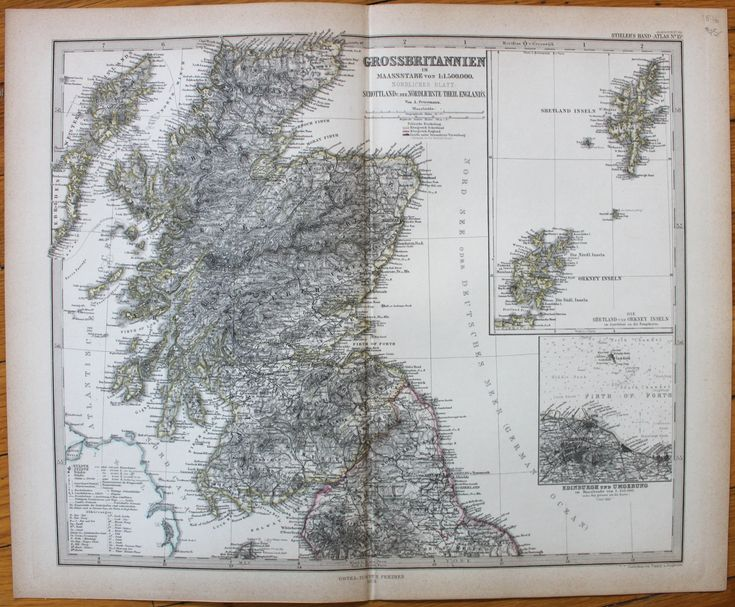 Great Britain - GrossBritannien, Nordliches Blatt - Antique Maps and Charts – Original, Vintage, Rare Historical Antique Maps, Charts, Prints, Reproductions of Maps and Charts of Antiquity